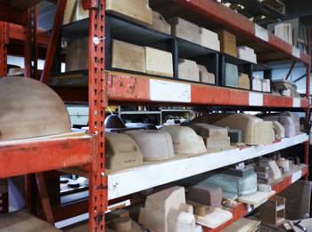 Tooling mold rack, Asheville Thermoform Plastics, Asheville, NC